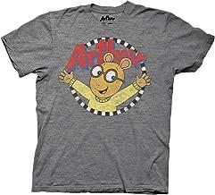 Ripple Junction Arthur Adult Distressed Arthur with Logo Light Weight Crew T-Shirt