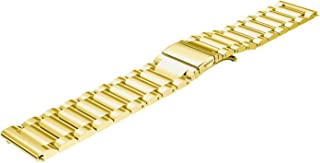 Strap for Galaxy Watch 46mm Band/Gear S3 Classic/Frontier Band 22mm Stainless Steel Business Bracelet for Samsung Smartwatch,Gold,22mm