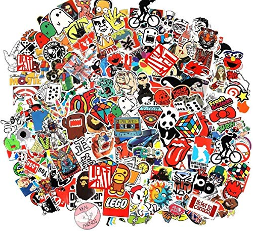 Cool Sticker 50pcs Random Music Film Vinyl Skateboard Guitar Travel Case Sticker Door Laptop Luggage Car Bike Bicycle Stickers (50pcs Pack)