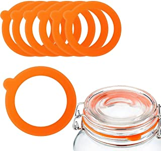 12 Pack Replacement Silicone Seals, Rubber Jar Seals Gaskets for Jar Lids,Fits Regular Mouth Glass Clip Jars Canning