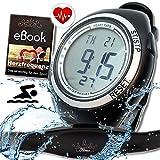 BerryKing Heartbeat Pro Pulsómetro con Correa de Pecho medición de frecuencia cardíaca y gimnasios Ant Área de formación, Consumo de calorías, Quema de Grasa Reloj Deportivo Impermeable (natación)