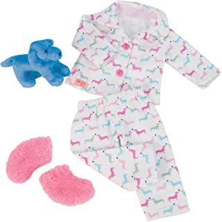 Our Generation Dolls Counting Puppies Dog Print Pjs Outfit for Dolls, 18