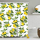 Stacy Fay Duschvorhang Obst 72x72 Inch Lemon01a