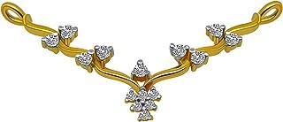 P. C. Chandra Jewellers 14KT Yellow Gold Pendant for Women