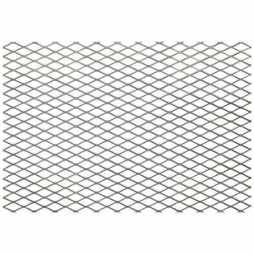 FixtureDisplays Steel Expanded Metal Mesh Sheet Flattened 3.3' Width, 7.7' Length 18112