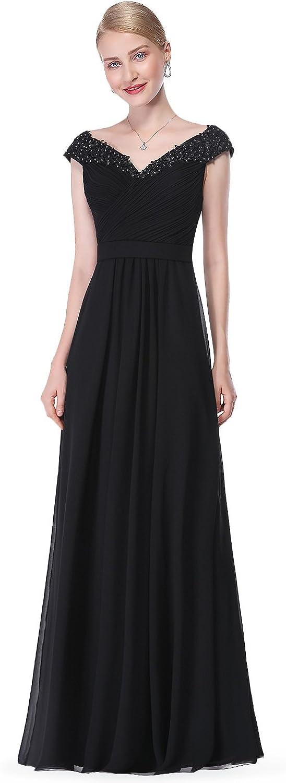 EverPretty Elegant Beaded Off Shoulder Evening Gown 08633