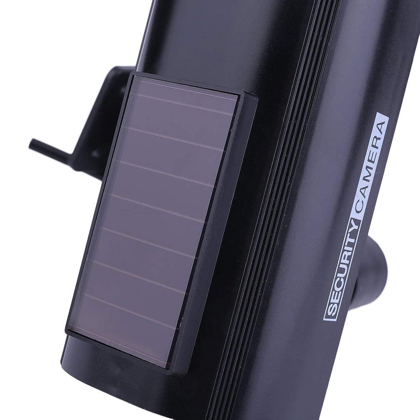 超えるプレゼン意図Blackfell 防犯カメラ屋内屋外ソーラーパワーダミー偽模造家CCTV監視カメラ付きLEDライトインジケータ