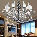 MJK Lampadari a soffitto , Lampadari in cristallo a testa di cigno creativi, studio, sala da pranzo, ripostiglio, camera da letto, soggiorno, lampadario a led cromato per sala -75 * 48 cm