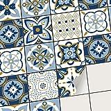 creatisto PVC Autocollant Stickers Oriental I Revêtement Mural adhésif pour Carrelage Salle de Bain - Décorer Faience Cuisine I Stickers carrelage (15x15 cm I 36 - Pièces)