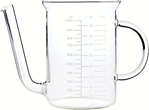HIC Gravy Strainer and Fat Separator, Heat-Safe Borosilicate Glass with 18/8 Stainless Steel Fine-Mesh Filter and Pierced Strainer, 4-Cup (32-Ounce) Capacity