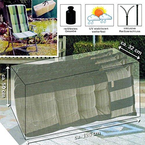 (145) Schutzhülle Abdeckung Hülle für Sitzkissen Tragetasche 125x32x50cm