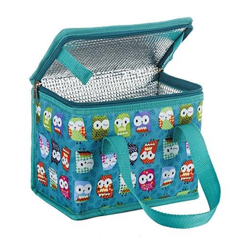 TEAMOOK Sac Repas Lunch Bag Sac à Déjeuner Sac Fraîcheur Portable Isotherme Hibou Vert 22cm X 16cm X 12cm
