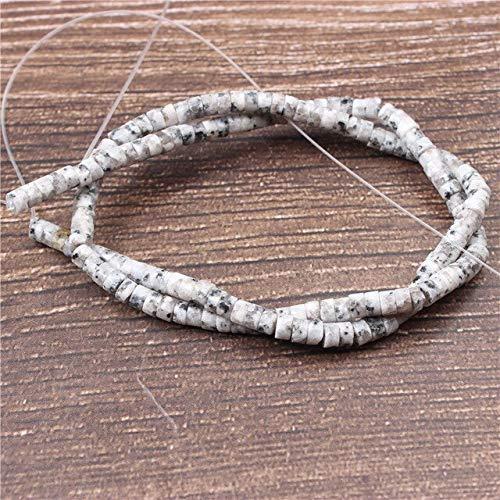 Lanli Fashion Jewelry Natürliche Edelsteine Intervall lose Perlen Kollektion 2 x 4 mm DIY Armband Halskette und Zubehör Tanshan dunkelblau, 2 x 4 mm 100 Perlen