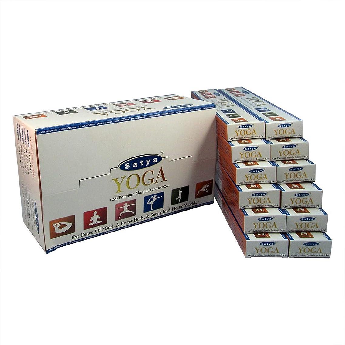 アマチュアこれまで登録するSatya プレミアム ヨガ お香スティック アガーバッティ 180グラム ボックス 各15グラム 1箱12パック プレミアム品質