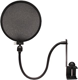 Nady SPF-1 6-Inch Clamp On Microphone Pop Filter with Flexible Gooseneck and Metal Stabilizing Arm (2018 Upgraded Model of MPF-6)
