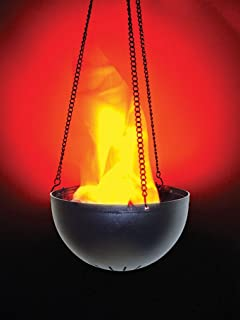 Morris Hanging Flame Light Lamp Prop,Black,orange,Standard