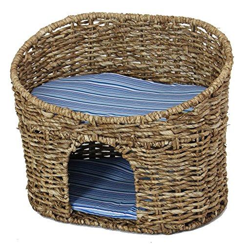 Katzenhöhle mit Kissen - Korb geeignet für kleine Katzen