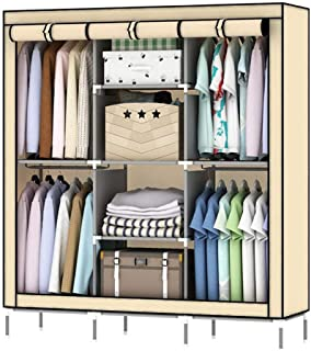 CXVBVNGHDF Armoire en Tissu Armoire à vêtements, Placard Portable Armoire de Rangement Placard Debout Placard Armoire en T...