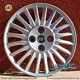 Generico COMPATIBILI Fiat Grande Punto - Quattro (4) COPRICERCHI Borchie 1215 LR Diametro 15 Logo Rosso