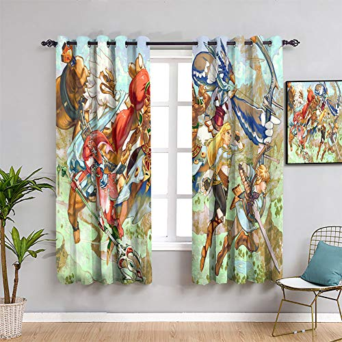 Elliot Dorothy insulated curtains The Legend of Zelda Breath of the Wild game poster Grommet Curtains Thermal Insulating Blackout Curtain W84 x L84