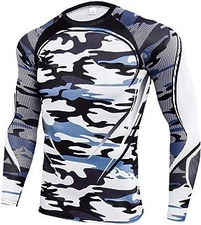 Camo Print Shirt Long Sleeve Camouflage Compression Shirt T170