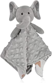 carter's plush security blanket blue elephant