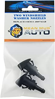 Mean Mug Auto 3818-232314A (Two) Front Windshield Washer Nozzles - For: Chrysler, Dodge, Ram - Replaces OEM #: 4805742AB