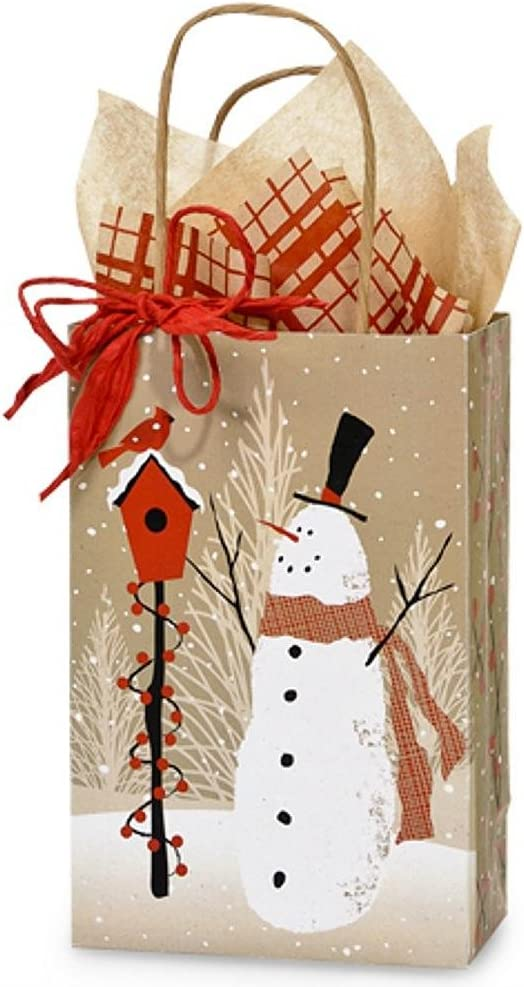 Snowmen CLEARANCE Drawstring Bag 52cm x 37cm