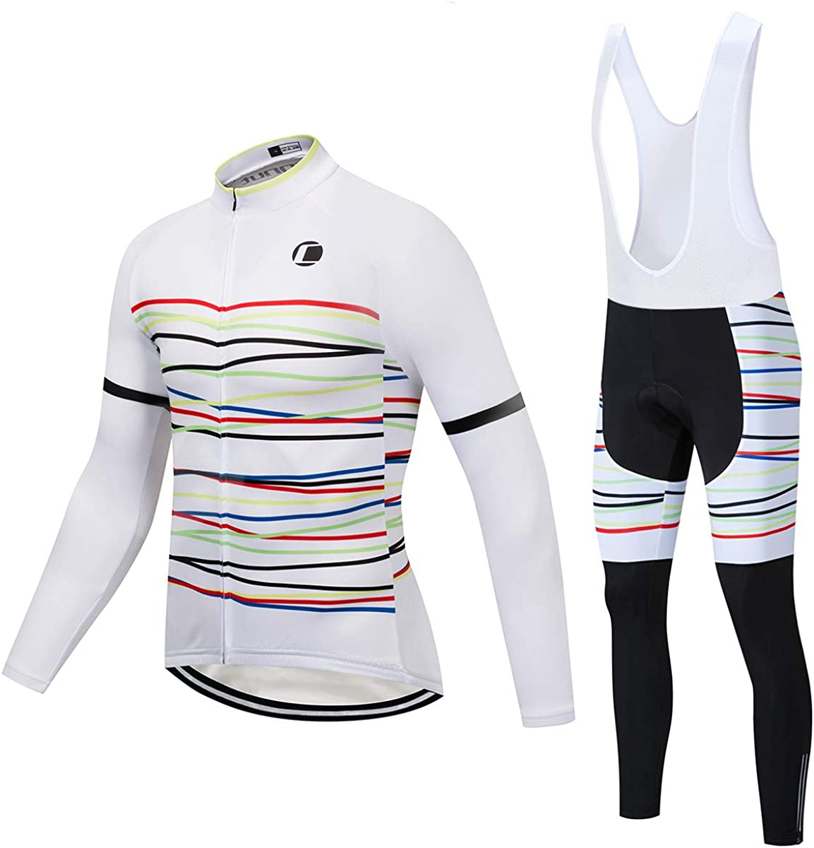 Winter OFFicial store Miami Mall Cycling Jersey Sets Thermal Bib Pant + Fleece Bike