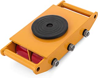 OrangeA 12T Industrial Machinery Mover 26000LBS Machinery Skate with Steel Rollers Cap 360 Degree Rotation (12T)