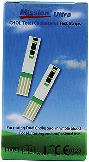ACON Mission Ultra CHOL Total Cholesterol Test Strips 25 pcs inside