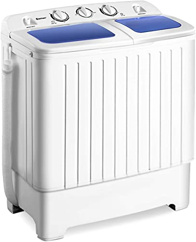2021 Giantex Portable Mini Compact Twin Tub Washing Machine online 17.6lbs Washer Spain outlet online sale Spinner Portable Washing Machine, Blue+ White outlet online sale