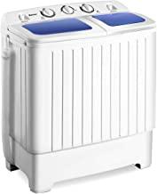 ماشین لباسشویی توپی مینی جمع و جور قابل حمل مینی جمع و جور Giantex اسپانیا اسپانیا ماشین لباسشویی قابل حمل اسپینر ، آبی + سفید