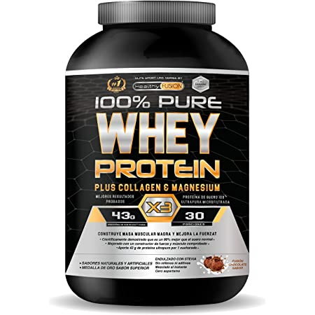 Whey protéine isolate pure avec magnésium | Protéine Whey ISO 100% pure | Avec collagène + magnésium | Construit une masse musculaire propre | Aide à la récupération des tissus fibreux | 30 doses