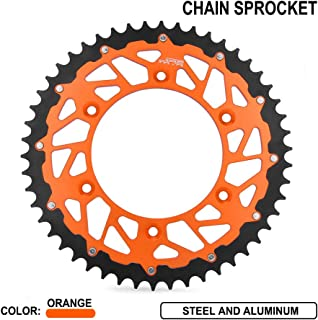 JFG RACING 52T CNC Rear Chain Sprocket - XCF EXC XC XCW EXCF SX SXF 125 150 200 250 300 450 525 - Orange