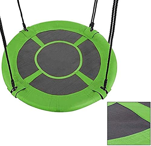 Nestschaukel YXX Flying Saucer Tree Swing für Kinder Erwachsene - 150kg Fassungsverm n, Durchmesser 80cm  , Einfache InsGrößetion, Stahlrahmen 900D Oxford Stoffbezug (Farbe   Style-1)