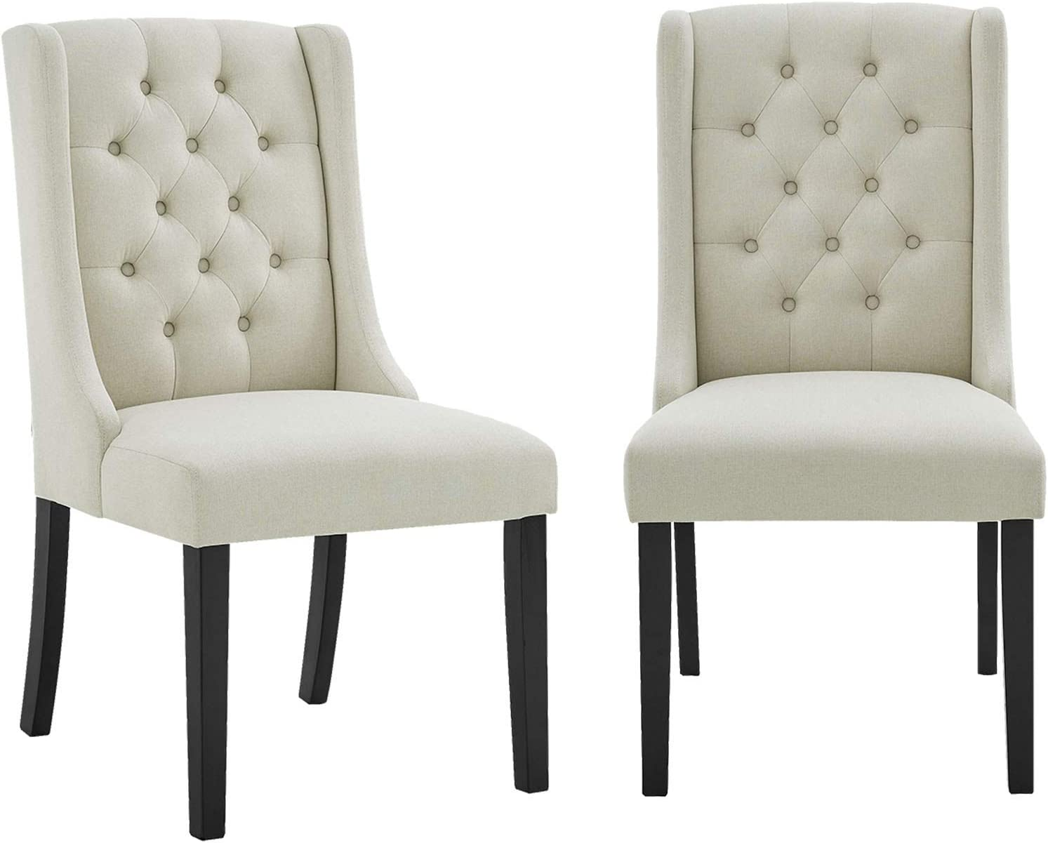 Accent Max 62% OFF Side Chairs Set OFFicial shop of 2 Tufted Button Fabric Ele Padded Seat