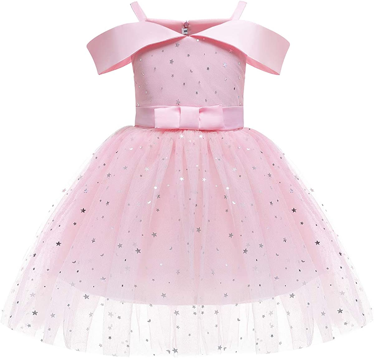 YOOJIA Kids Girls Off Shoulder Special Occasion Dresses Princess Birthday Party Dress Bridesmaid Dresses Pageant Gown