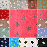 DIE NÄHZWERGE Superflausch Sterne, in 15 Farbkombinationen