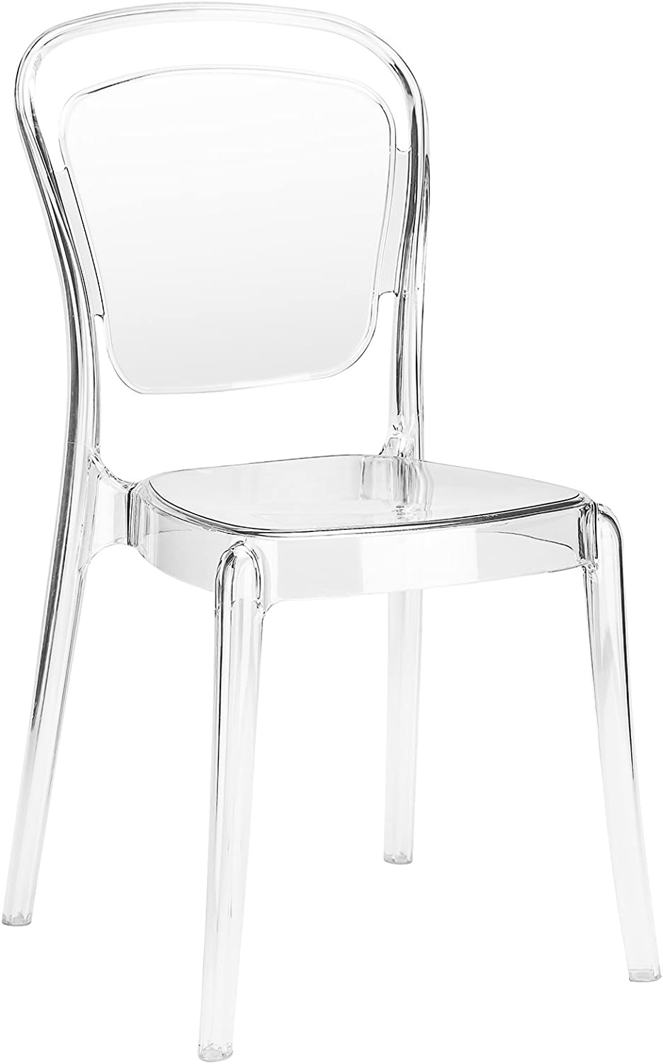 Poly and Bark Lucent Dining Side Chair, Clear