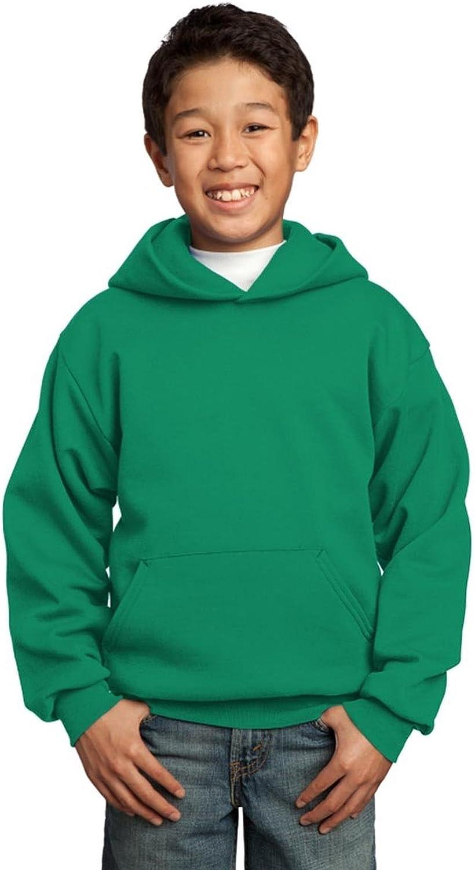 Port & Company Youth Pullover Hooded Sweatshirt, Kelly, XL