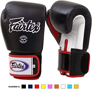 Fairtex Muay Thai Boxing Gloves BGV1 Black/White/Red Gloves - 12 oz