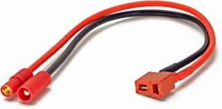 Charger Cable Adapter: Deans T-Plug Female to HXT3.5mm Male Walkera Style HXT 3.5 (Wires Cables Leads Plugs LiPo Battery) by GT Power