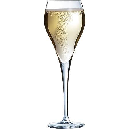 Arcoroc J1478 Flûte à champagne Brio, Verre Ultra Transparent, 16 cl - Lot de 6