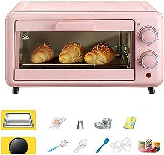 Mini Horno Grill 11L Y MúLtiples Accesorios, Horno EléCtrico Con Bandeja Desmontable, Horno Tostador Uso DoméStico Con FuncióN De DescongelacióN Y FuncióN De Parrilla,Pink-800W