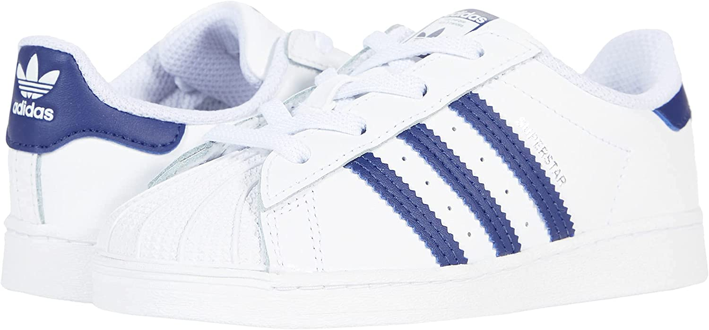 adidas Superstar (Infant/Toddler) White/Night Sky/White 10 Toddler M