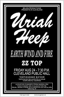 Raw Sugar Art Studio Uriah Heep/Earth Wind and Fire/ZZ Top 1973 Cleveland Concert Poster