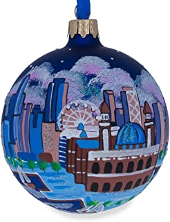 BestPysanky Chicago Navy Pier Glass Ball Christmas Ornament 3.25 Inches