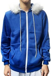 Close-dole Men Women Sans Cosplay Blue Jacket Plush Hooded Coat Sans Costume Hoodie Jacket Coat Cos Jacket Sweatshirts