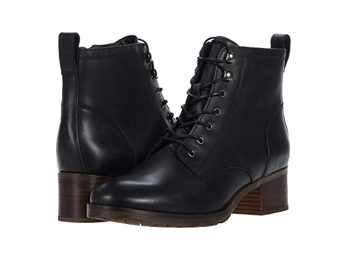 Vintage Boots, Retro Boots Clarks Mila Lace Black Leather Womens Shoes $89.83 AT vintagedancer.com